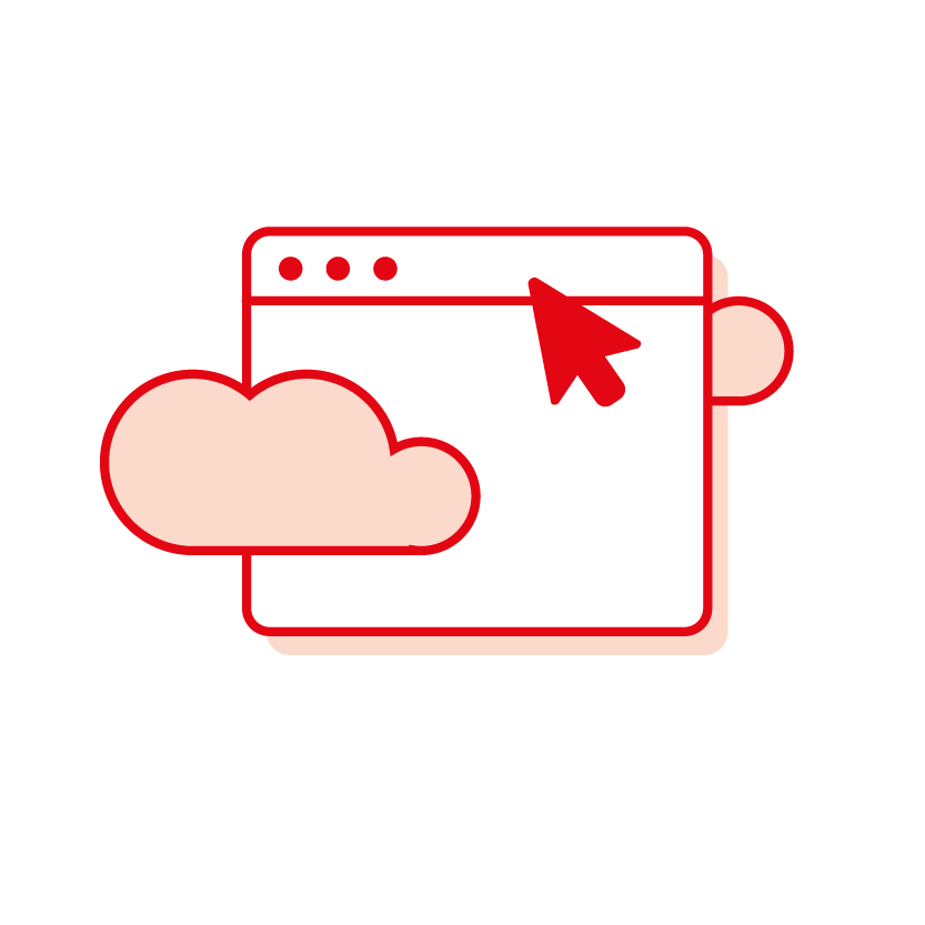 Red cloud folder icon