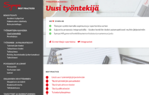 New employee page on Sympa HR