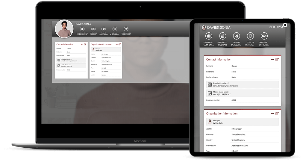 Employee overview tablet + laptop